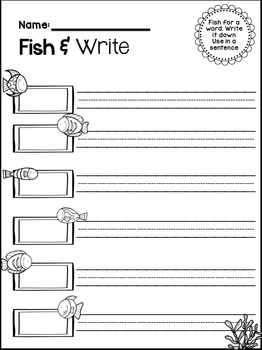 Sight Word Fish and Write Center Activity