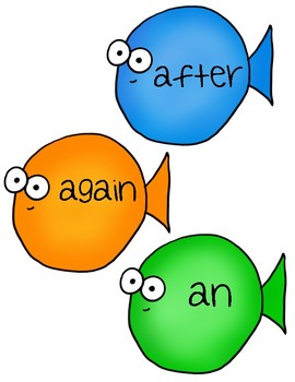 Sight Word Fishing:  1st Grade Dolch Words (41 words)