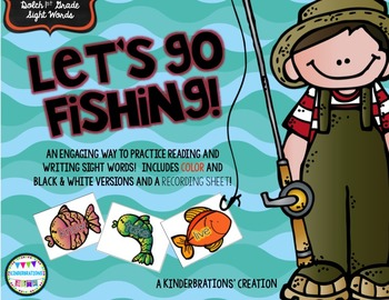 Sight Word Fishing- Dolch 1st Grade List