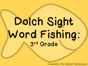 Sight Word Fishing: Dolch 3rd Grade