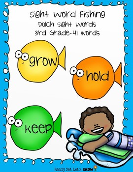 Sight Word Fishing: Dolch 3rd Grade (41 Words)