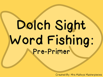 Sight Word Fishing: Dolch Pre-Primer