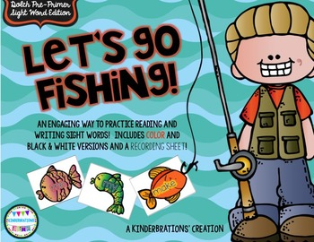 Sight Word Fishing- Dolch Pre Primer Edition