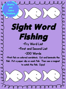 Sight Word Fishing (Fry Word List)