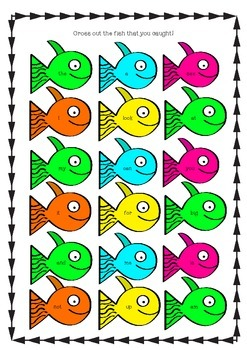 Sight Word Fishing Game