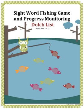Sight Word Fishing Game and Progress Monitoring: Dolch Words