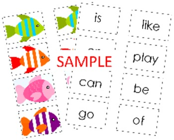 Sight Word Fishing Games