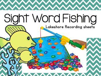 Sight Word Fishing -Lakeshore Recording Sheets-