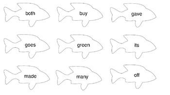 Sight Word Fishing Second Grade