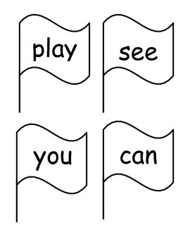 Sight Word Flags