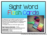 Sight Word Flash Cards 2 Sets: Dolch Sight Words Set & 250