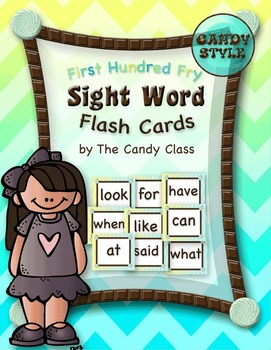Sight Word Flash Cards - Candy Style
