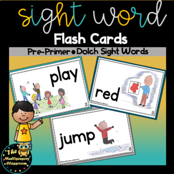Sight Word Flash Cards: Preprimer Dolch Sight Words