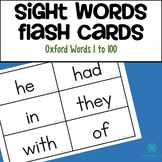 Sight Word Flash Cards - Oxford Word List 1 to 100