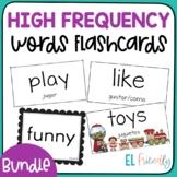 Bundle Sight Word Flash Cards Bilingual English Spanish & English Only