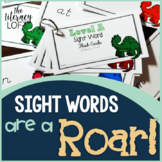 Sight Word Flash Cards {Dinosaur Theme}