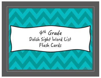 Sight Word Flash Cards (Dolch)