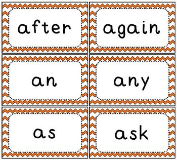 Sight Word Flash Cards Dolch 1st Grade Set