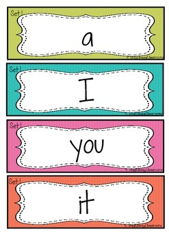 Sight Word Flash Cards ~ Dolch 220 (Bright Spotty)