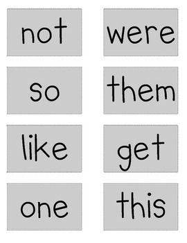 Sight Word Flash Cards - Dolch Lists 1-3
