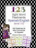 Sight Word Flash Cards -  SPANISH/ENGLISH level 1-3 Palabras de Alta Frecuencia