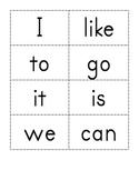 Sight Word Flash Cards K-1