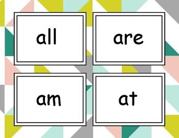 Sight Word Flash Cards - Kindergarten