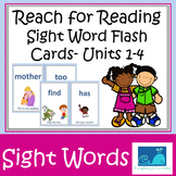 Reach for Reading Units 1-4 Sight Word Flash Cards 1st gra