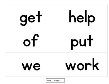 Sight Word Flash Cards National Geographic Reach for Reading 1st Gr.