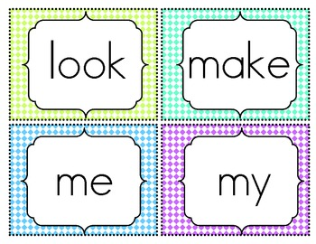 Sight Word Flash Cards {Pre-Primer}