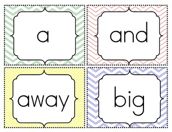 Sight Word Flash Cards {Pre-Primer-3rd Grade} FREEBIE