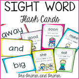 Sight Word Flash Cards Pre Primer and Primer Activities fo