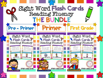 Sight Word Flash Cards Reading Fluency THE BUNDLE