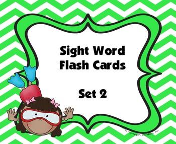 Sight Word Flash Cards (Set 2)