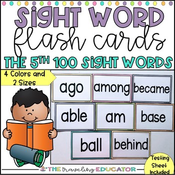 Sight Word Flash Cards - The Fifth Hundred