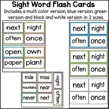 Sight Word Flash Cards - The Third 100
