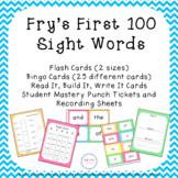 Sight Word Flash Cards and Bingo Set - Colorful Chevron