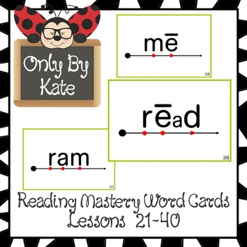 Sight Word Flash Cards for Reading Mastery Set 1 (Lessons 21-40 ...