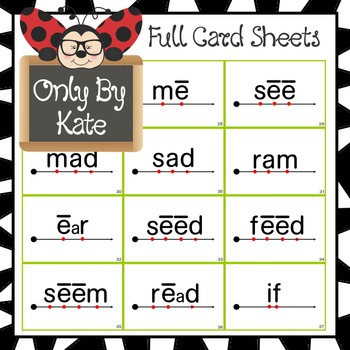 Sight Word Flash Cards for Reading Mastery Set 1 (Lessons 21-40),NEW AND UPDATED