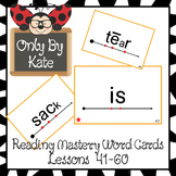 Sight Word Cards for Reading Mastery Set 2 (Lessons 41-60)