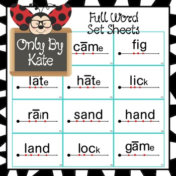 Sight Word Flash Cards for Reading Mastery Set 3 (Lessons 61-80) NEW AND IMROVED