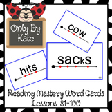Sight Word Flash Cards for Reading Mastery Set 4 (Lessons