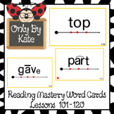 Sight Word Flash Cards for Reading Mastery Set 5 (Lessons 101-120) UPDATED!