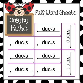 Sight Word Flash Cards for Reading Mastery (Lessons 121-140) NEW AND IMPROVED!