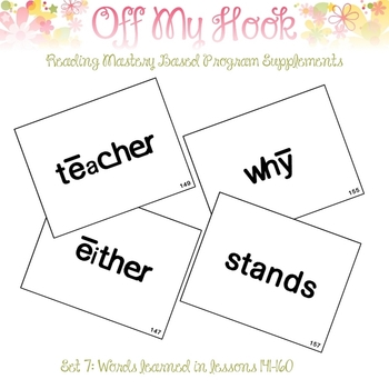 Sight Word Flash Cards for Reading Mastery Set 7 (Lessons 141-160)