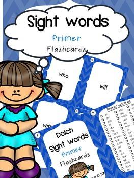 Sight Word Flashcard BUNDLE