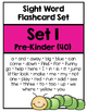 Sight Word Flashcard Sets & Recording Sheets: Pre-Kinder t
