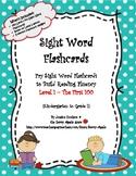 Sight Word Flashcards: 100 Level 1 Fry Sight Word Flashcar
