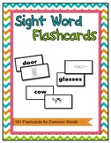 Sight Word Flashcards 101 Words