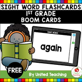Sight Word Flashcards 1st Grade Boom Cards (Distance Learning)
